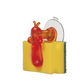Koziol 004.110500.001 Держатель для губки NorBert, оранжевый | Rustirka.RU - Интернет-магазин надежной бытовой техники в Москве
