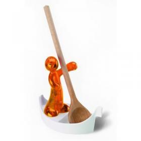 Koziol 004.022700.001 Подставка для ложки Luigi, оранжевый | Rustirka.RU - Интернет-магазин надежной бытовой техники в Москве