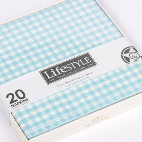 Lifestyle 120326 Салфетки бумажные, Ls94, голубые, 17*17 см. | Rustirka.RU - Интернет-магазин надежной бытовой техники в Москве