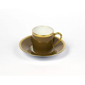Haviland & C.Parlon Чашка кофейная с блюдцем, Радуга, коричневый | Rustirka.RU - Интернет-магазин надежной бытовой техники в Москве
