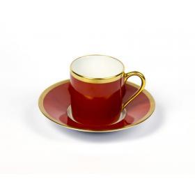 Haviland & C.Parlon Чашка кофейная с блюдцем, Радуга, терракотовый | Rustirka.RU - Интернет-магазин надежной бытовой техники в Москве