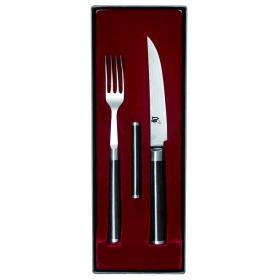 Набор Вилка/Нож для стейка с подставкой для приборов KAI, DM-0907 | Rustirka.RU - Интернет-магазин надежной бытовой техники в Москве