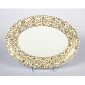 J.Seignolles Блюдо овальное, Alhambra, золотой, 35,5 см.   Rustirka.RU - Интернет-магазин надежной бытовой техники в Москве