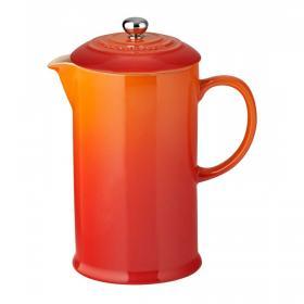 Кофейник с прессом 22см оранжевый LE CREUSET  91028200090000 | Rustirka.RU - Интернет-магазин надежной бытовой техники в Москве