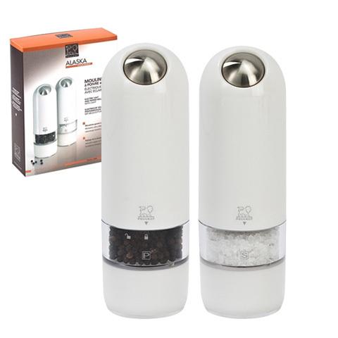 Набор 2 предмета электрических мельниц для соли и перца 17 см акриловых белых Peugeot Alaska 2/27667   Rustirka.RU - Интернет-магазин надежной бытовой техники в Москве