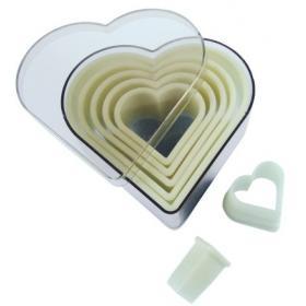 De Buyer, 4301.10 Набор 7 гладких резаков Сердце | Rustirka.RU - Интернет-магазин надежной бытовой техники в Москве