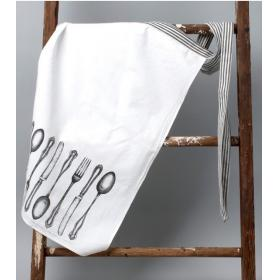 Cake Vintage, CV739 фартук рисунок - столовые предметы черные, 81*91 см. | Rustirka.RU - Интернет-магазин надежной бытовой техники в Москве