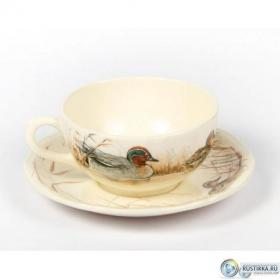 16312PTA26 Чашка и блюдце Gien (для завтрака), Sologne, 300 мл., 18 см. | Rustirka.RU - Интернет-магазин надежной бытовой техники в Москве