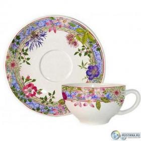 16432PTA01 Чашка и блюдце Gien (для завтрака), Многоцветие, 260 мл., 18 см. | Rustirka.RU - Интернет-магазин надежной бытовой техники в Москве