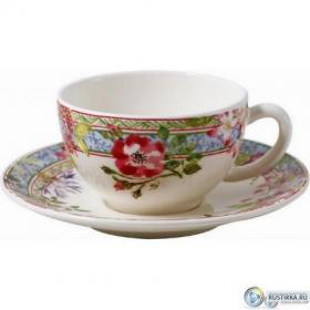 16432PTH01 Чашка и блюдце Gien (для чая), Многоцветие, 160 мл., 15,2 см. | Rustirka.RU - Интернет-магазин надежной бытовой техники в Москве