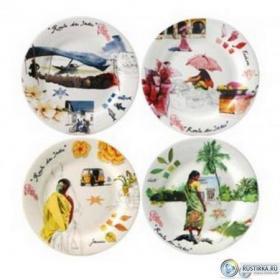 1748B4BX50 Набор тарелок для канапе Gien, Индия, 4 шт., 16,5 см. | Rustirka.RU - Интернет-магазин надежной бытовой техники в Москве