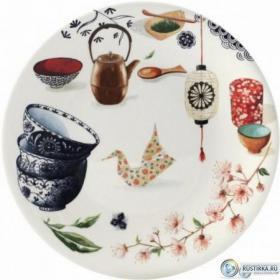 1779B4AB02 Тарелка десертная Gien, Чайная церемония, 22 см. | Rustirka.RU - Интернет-магазин надежной бытовой техники в Москве