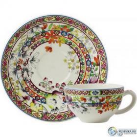 17812PTA01 Чашка и блюдце Gien (для завтрака), Багатель, 260 мл., 18 см. | Rustirka.RU - Интернет-магазин надежной бытовой техники в Москве