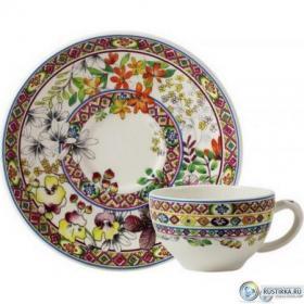 17812PTH01 Чашка и блюдце Gien (для чая), Багатель, 160 мл., 15,2 см. | Rustirka.RU - Интернет-магазин надежной бытовой техники в Москве