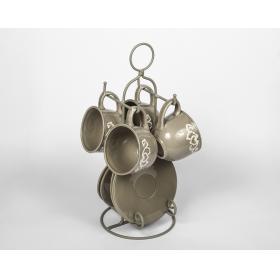 21069440 чашки и блюдца Jianwen, на металлической подставке, керамика | Rustirka.RU - Интернет-магазин надежной бытовой техники в Москве