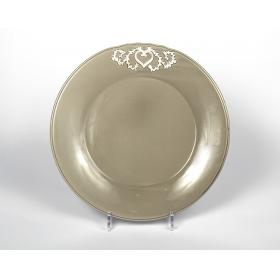 21069280 тарелка Jianwen, темно-серая, керамика (доломит) | Rustirka.RU - Интернет-магазин надежной бытовой техники в Москве