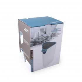 JA2097IS Подставка для ножей Anzo, с внутренним съемным блоком, бело-синий | Rustirka.RU - Интернет-магазин надежной бытовой техники в Москве